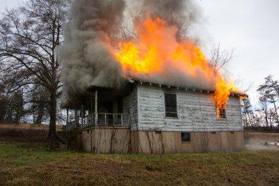 Roof on fire emergency